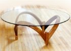 wood coffee table base only for round glass top