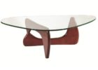 wood coffee table base only for triangle thick glass tops