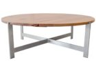 wood coffee table base only round solid wood tops