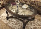 wood coffee table with glass insert