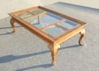 wood coffee table with glass insert designs