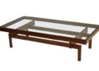 wood coffee table with glass insert ideas