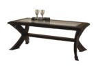 wood coffee table with glass insert modern black