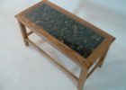 wood coffee table with glass insert rectangular ideas