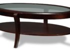 wood coffee table with glass insert with storages