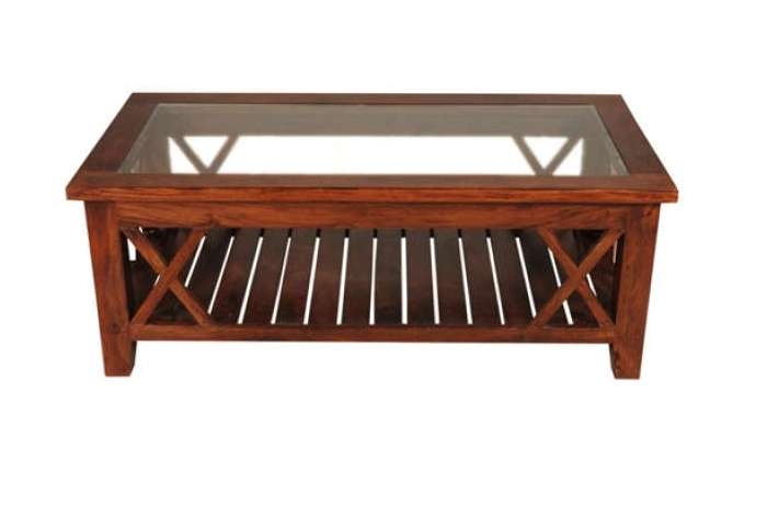 wood coffee table with glass insert with storages ideas