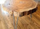 wood slab coffee table for sale log wood with metal pin legs