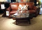 wooden boat wood coffee table glass top