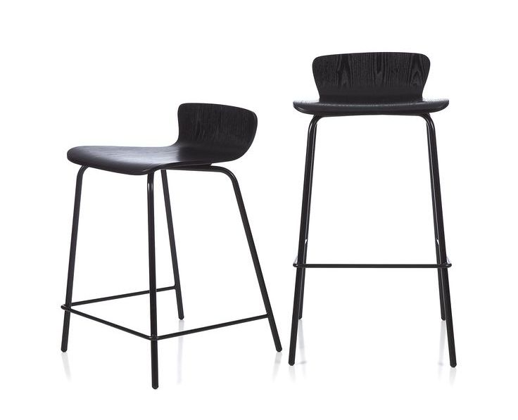Crate And Barrel Bar StoolsBlack wth Backs