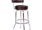 Round Back Bar Stools Covers with Back