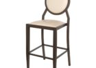 Round Back Bar Stools Covers with Backrest