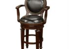 Round Back Bar Stools with Armchair and Backrest