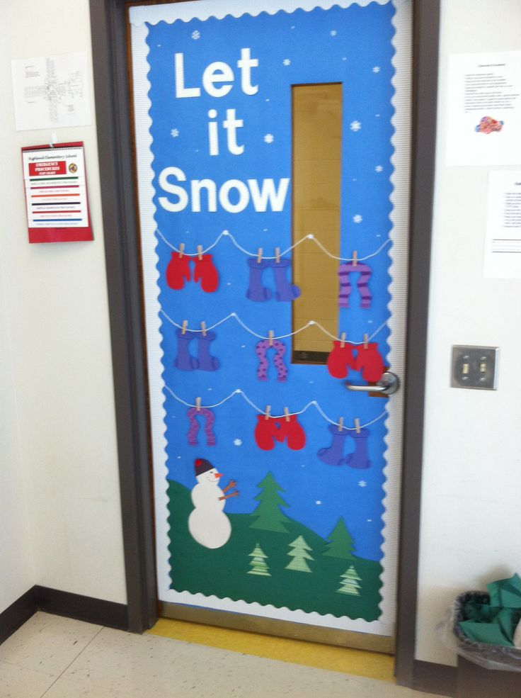 Winter Mantel and Shelf Decorating Ideas-pinterest-discover-and-save-creative-ideas-winter-themed-classroom-door-decorations