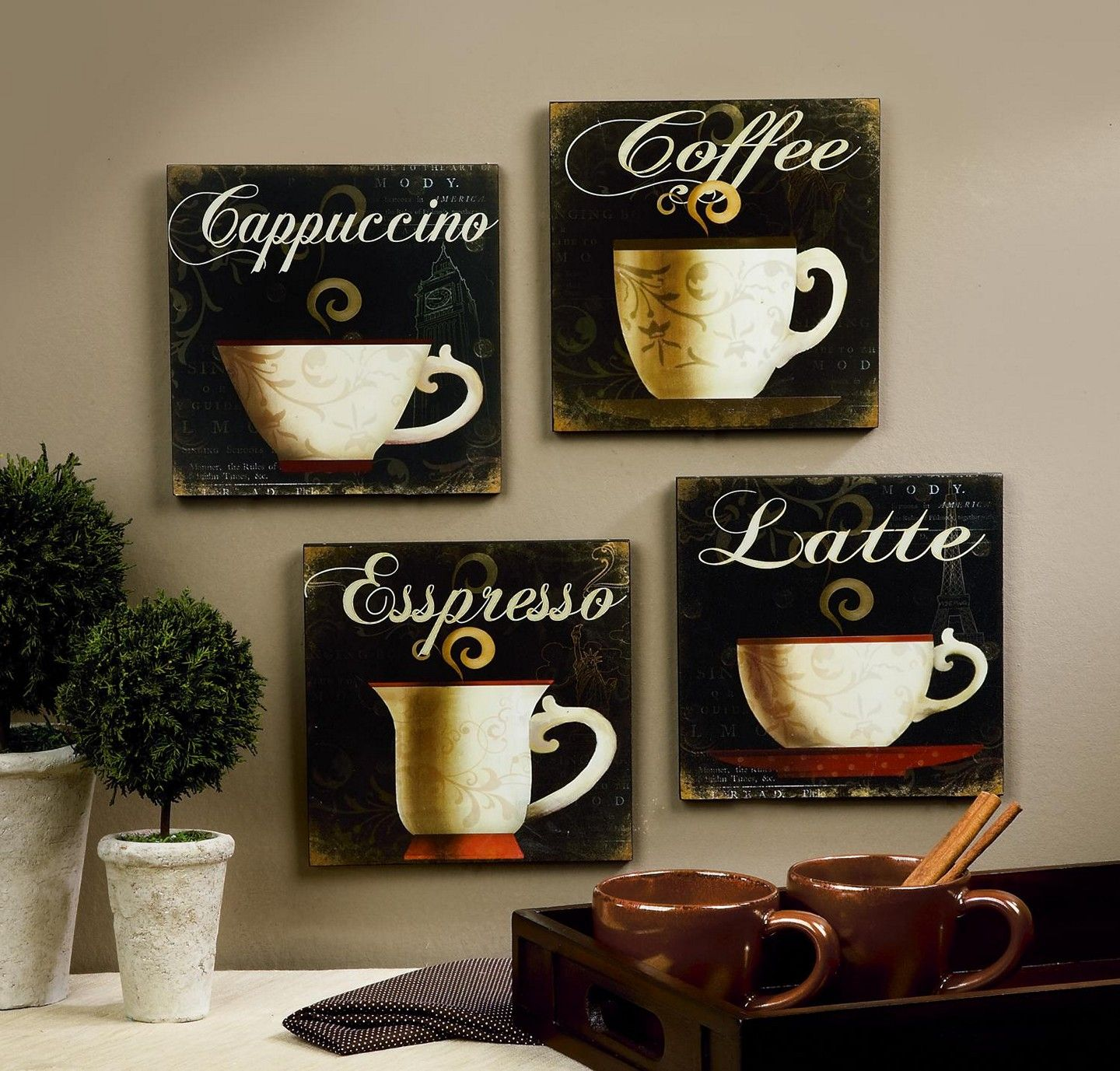 kitchen decor theme ideas-coffee themed kitchen decor