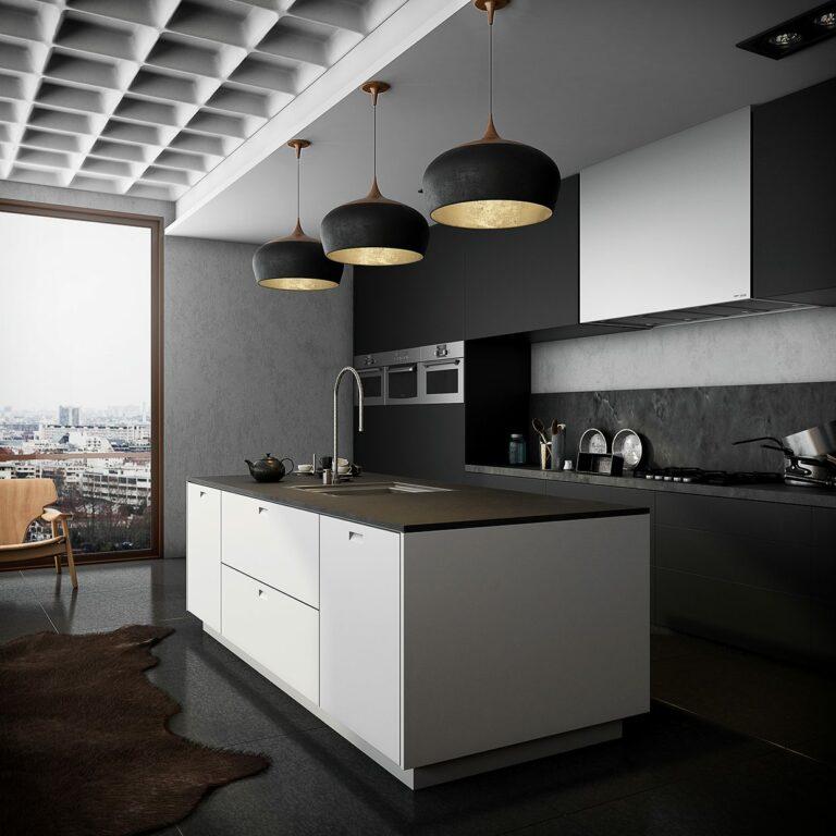 monochromatic-kitchen-black-and-kitchen decor theme ideas