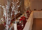 where to buy wedding decorations beautiful red and white rustic winter themed wedding decor Winter Themed Wedding Ideas decorations