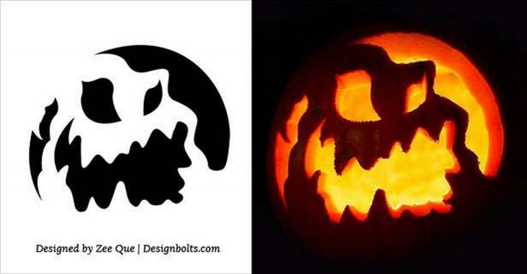 Pumpkin-Carving-Stencils-printable-patterns-ideas-cheap halloween decorations