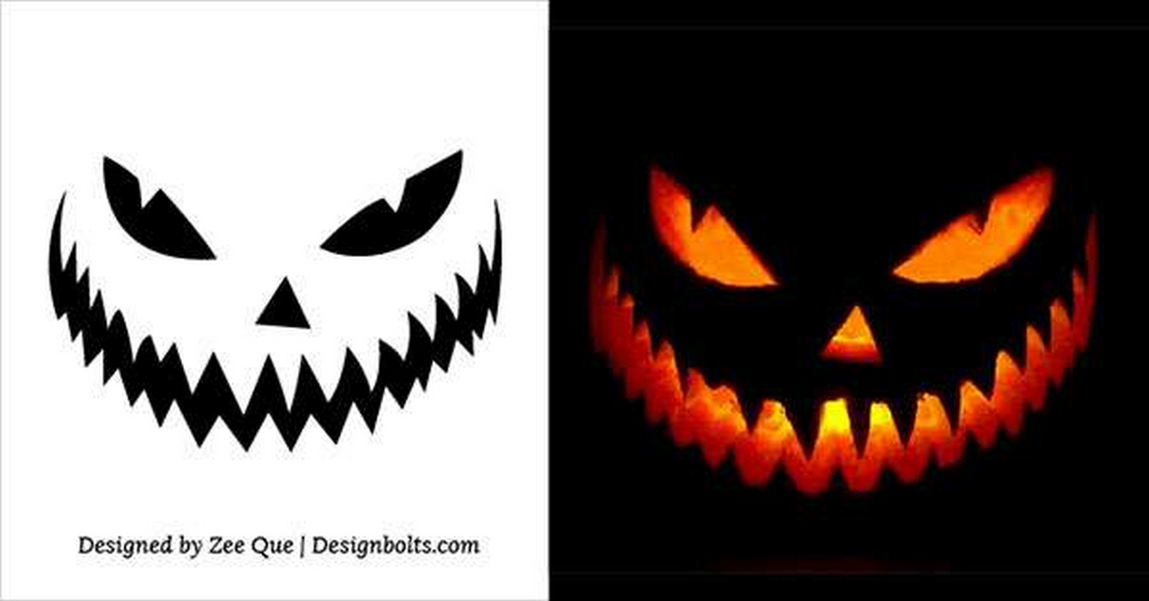 Scary-Pumpkin-Carving-Stencils-Pattern-Templates-Ideas-creepy halloween decorations