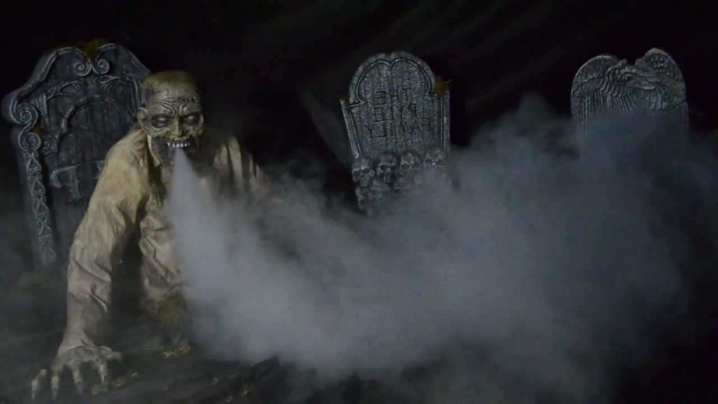 Zombie-shooting-out-special-Smoke-Fog-Effects-Machine-outside halloween decorations