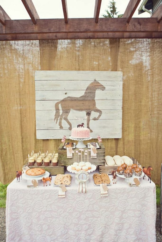 horse crafts for birthday party-pony-birthday-parties-birthday-ideas