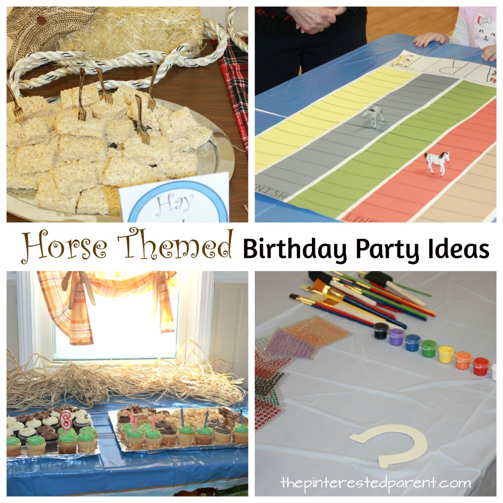 horse party decorations-horse decor-diy horse party favors-horse themed birthday party games