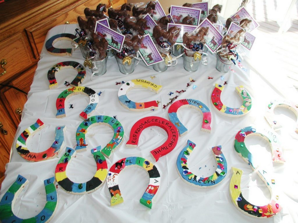 horse shoes game-horse themed party food-horse shaped snacks-horse decor