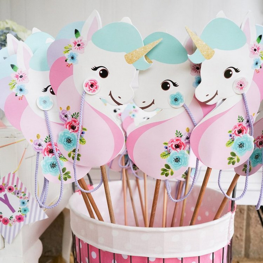 horse themed party supplies-Unicorn-Stick-Horse-horse decor