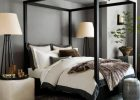 Black Canopy Bed Curtains 01