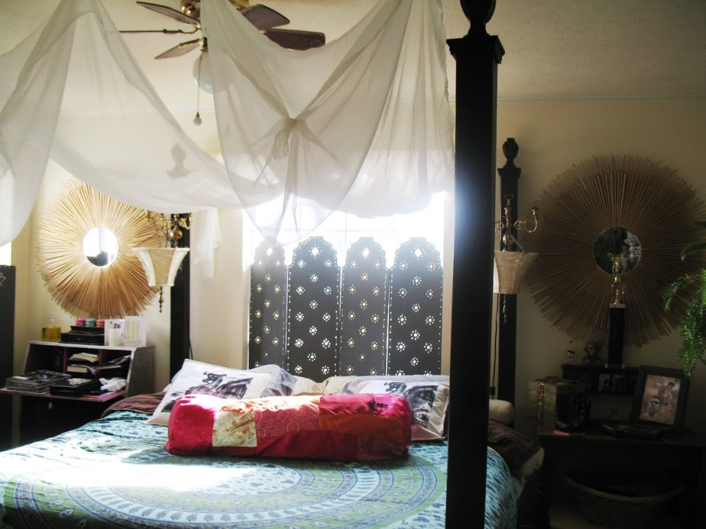 Black Canopy Bed Curtains 08
