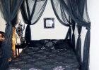 Black Canopy Bed Curtains 18
