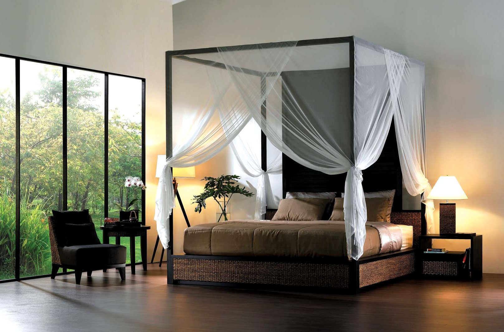 Black Canopy Bed Curtains 23