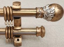 Brushed Gold Curtain Rod 03
