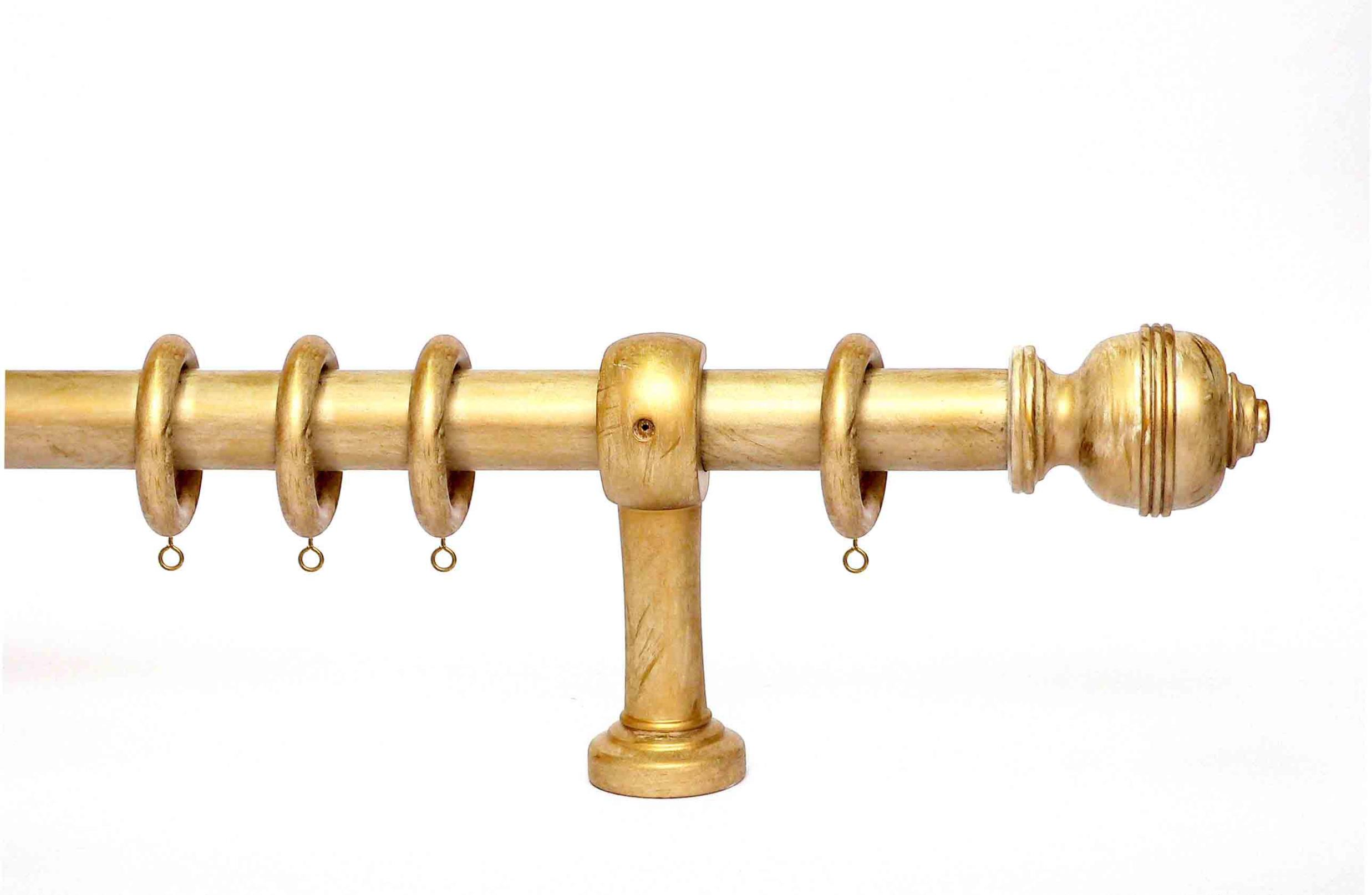 Brushed Gold Curtain Rod 11