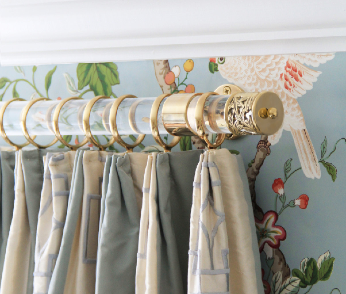 brushed gold curtain rod 16
