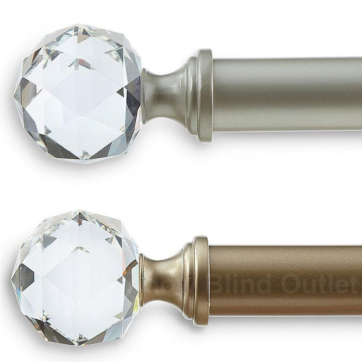 Curtain Rods With Crystal Ends 01