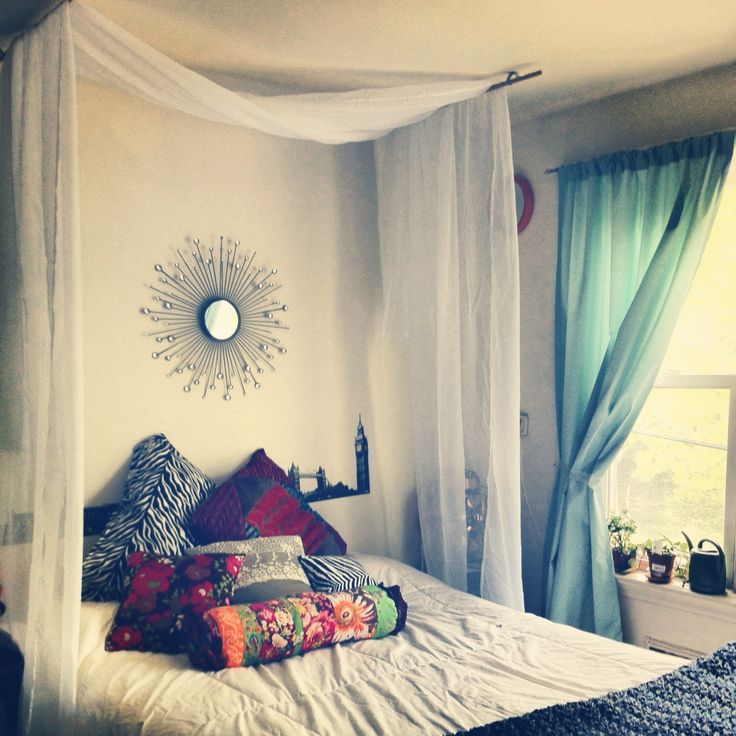 Over Bed Hanging Curtain DIY With Step By Step