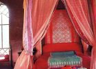 Excotic Moroccan Style Bedding Design Canopy Bed with Beautiful Curtain