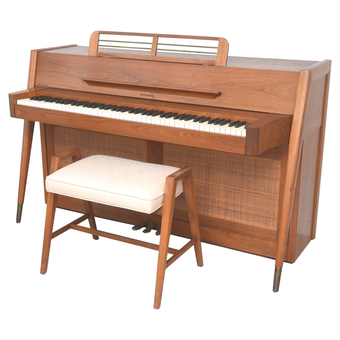 mid century modern piano | Mid-Century Modern Arcosonic Spinet Piano by Baldwin at 1stdibs | mid century modern piano