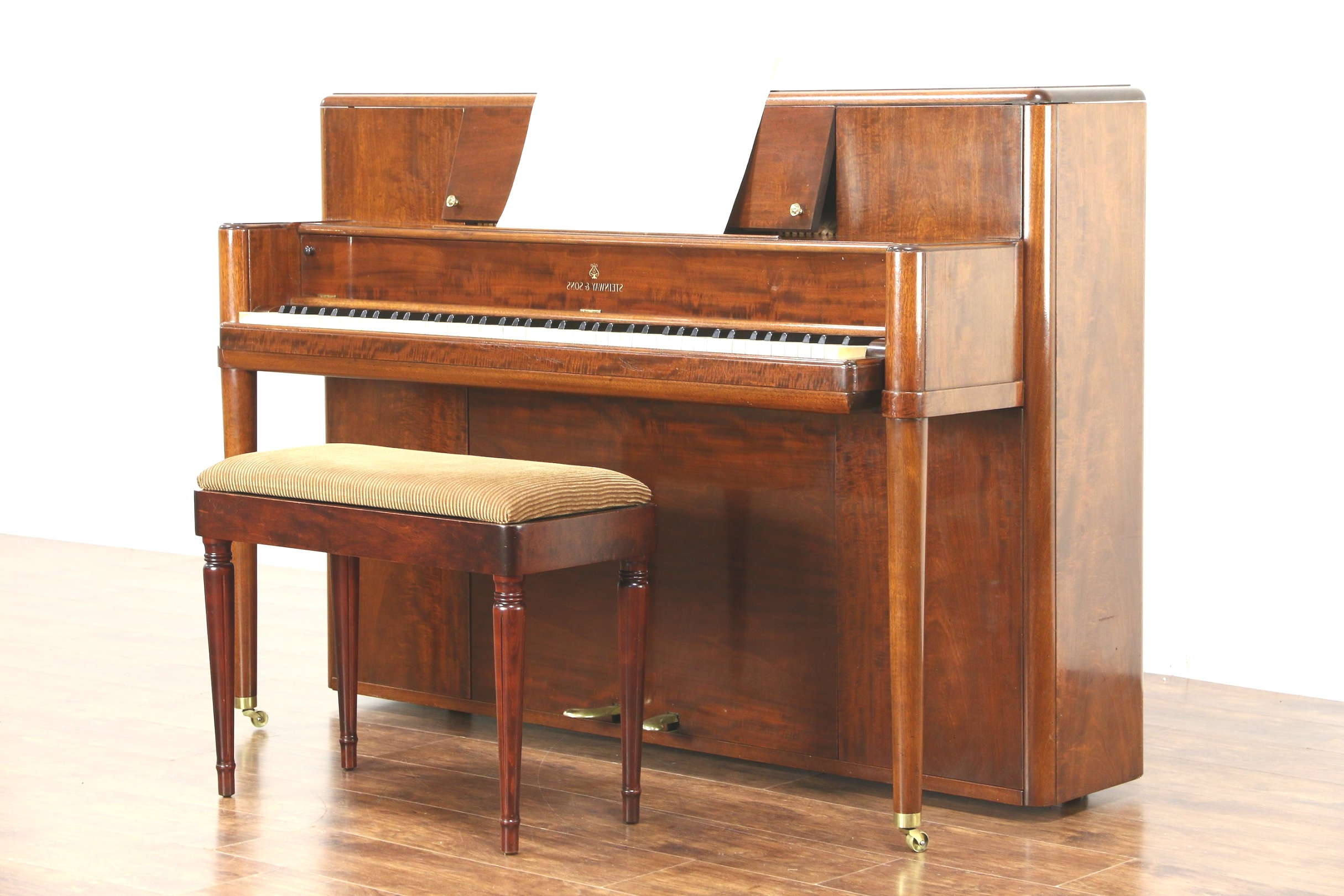 mid century modern piano | SOLD - Steinway Signed 1942 Midcentury Modern Mahogany Console ..