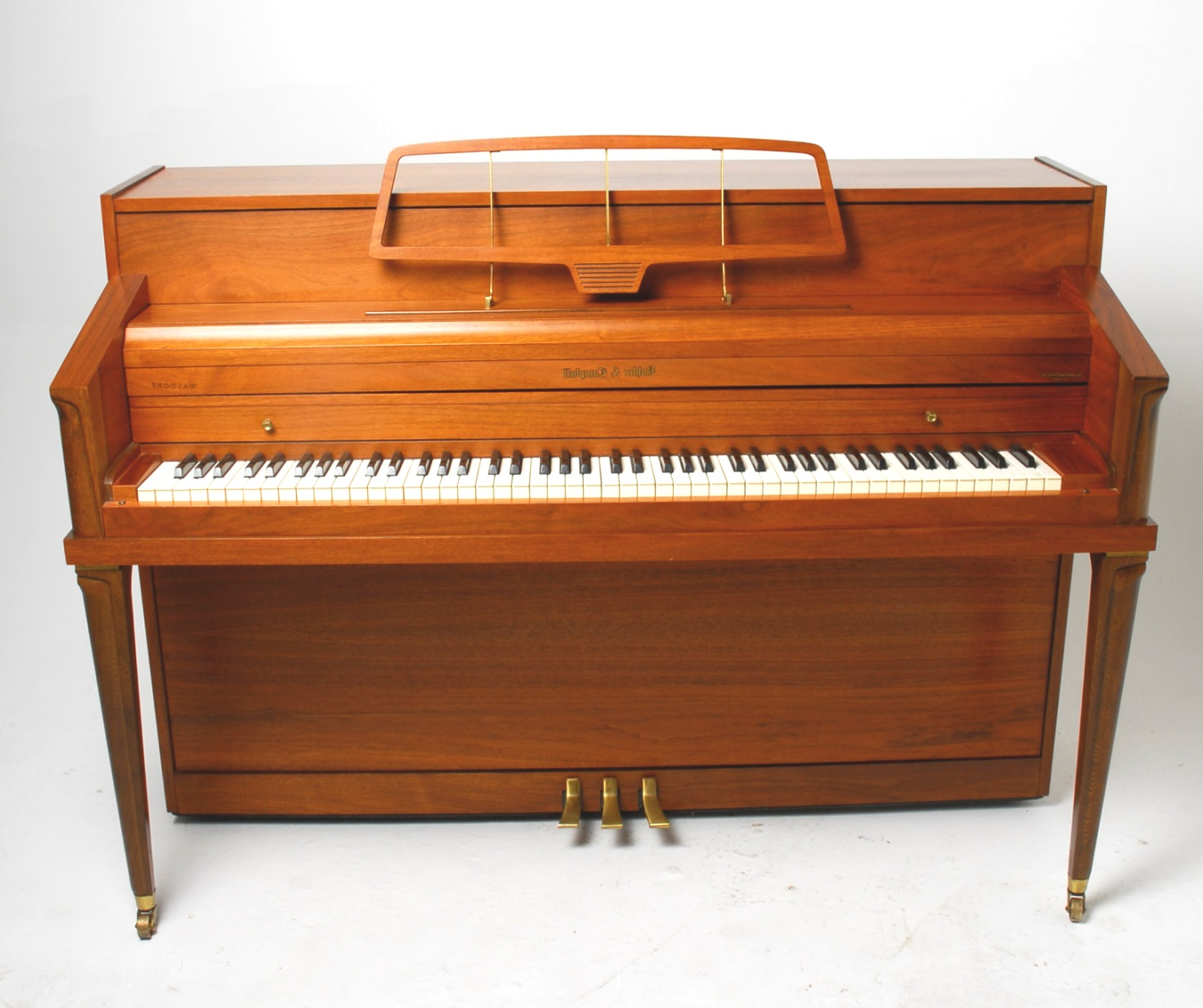 mid century modern piano | Mid Century Modern Walnut Upright Piano by by RevolverSeattle ..