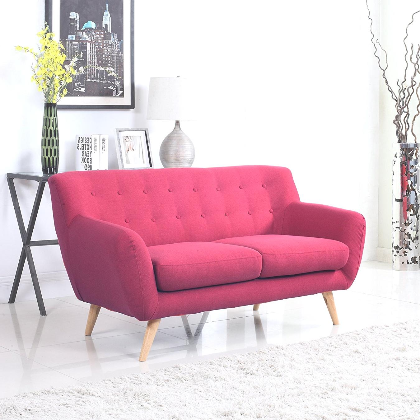 mid century modern loveseat | Amazon.com: Mid-Century Modern Linen Fabric Sofa, Loveseat in ..