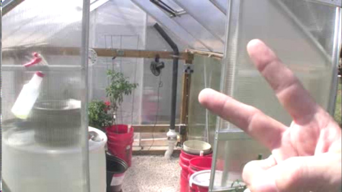 small greenhouse heater | Small Solar Greenhouse Heat Sink - YouTube | small greenhouse heater