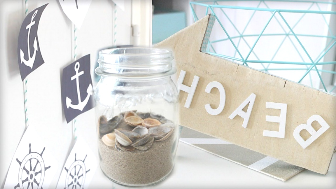 beach theme decor | DIY Beach Themed Room Decor #SummerCollab | Sabrina Putri - YouTube | beach theme decor
