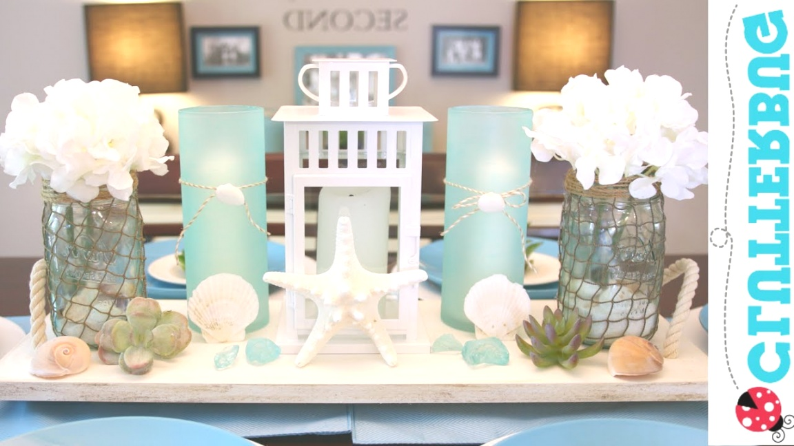 beach theme decor | DIY Beach Theme Decor Ideas - Pottery Barn Hack - YouTube | beach theme decor