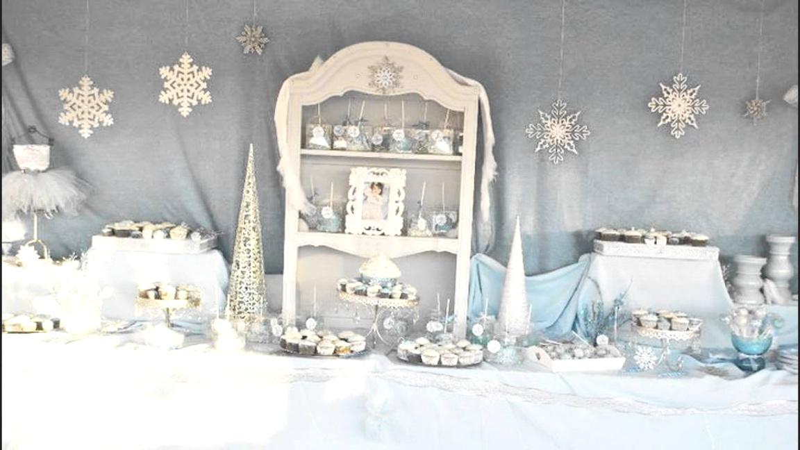 winter themed decorations | Stunning Winter wonderland birthday party ideas - YouTube | winter themed decorations