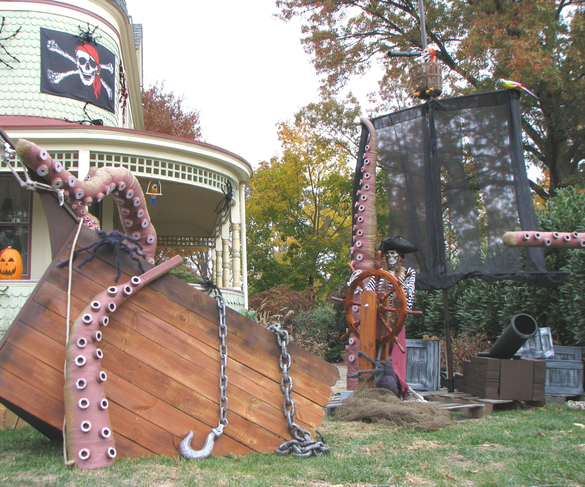 pirate themed halloween decorations | Kraken Tentacles and a Ship for Them to Destroy!!! | Sea monsters ..