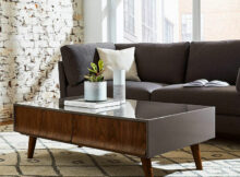 Glass Coffee Table Design Comes in Vintage Style
